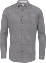 Pure Trend-Business-Hemd City Silver körperbetont