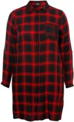FRAPP Luftiges Blusen-Kleid mit Karo-Muster