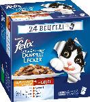 dm-drogerie markt Felix Nassfutter für Katzen, Doppelt, Lecker Fleisch, 24x100g