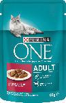 dm-drogerie markt PURINA ONE Nassfutter für Katzen, Adult mit Rind & Karotten in Soße