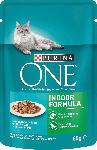 dm-drogerie markt PURINA ONE Nassfutter für Katzen, Indoor Formula mit Thunfisch & grünen Bohnen in Soße