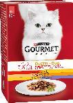 dm-drogerie markt GOURMET Nassfutter für Katzen, Mon Petit Duo Fleisch, 6x50g