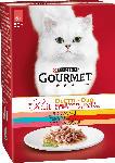 dm-drogerie markt GOURMET Nassfutter für Katzen, Mon Petit Duo Fleisch & Fisch, 6x50g