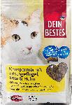 dm-drogerie markt Dein Bestes Trockenfutter für Katzen, Knuspermix mit Frischfleisch, Ente & Huhn