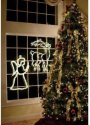 Polarlite LDE-02-005 Fenster-Dekoration Engel Warm-Weiß LED Weiß