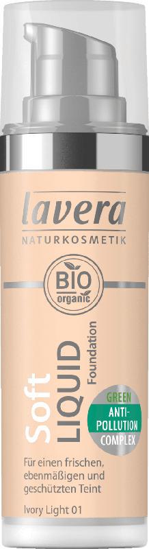 Lavera Make-up SOFT LIQUID FOUNDATION  -Ivory Light 01-