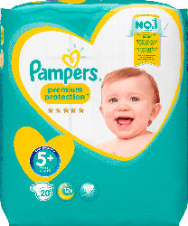 Pampers Windeln Premium Protection, Größe 5+ Junior plus, 12-17 kg, Sparpack
