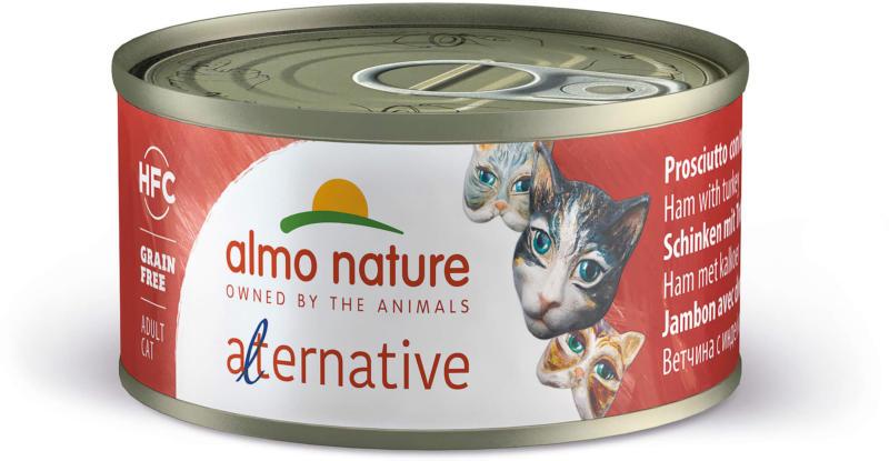 Almo Nature HFC  Alternative Cat Schinken & Truthahn 70g