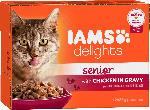 dm-drogerie markt IAMS Nassfutter für Katzen, Senior, Delights, Huhn in Sauce, Multipack 12 x 85g