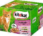 dm-drogerie markt kitekat Nassfutter für Katzen, Markt-Mix in Gelee, Multipack, 24x100g