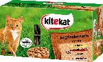 dm-drogerie markt kitekat Nassfutter für Katzen, Jagdschmaus in Sauce, Multipack, 48x100g