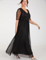 SAMOON Kleid Gewirke »Abendkleid mit Pailletten«