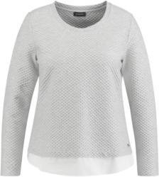 SAMOON T-Shirt Langarm Rundhals »Struktur-Shirt im Lagen-Look«