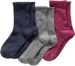 3 Paar Damen Socken in verschiedenen Farben