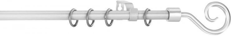 """Gardinenstange """"Kringel"""", ausziehbar bis ca. 240 cm, silber"""