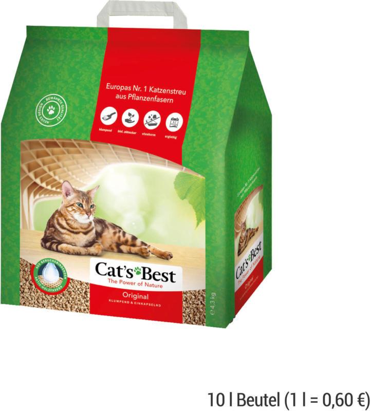 CAT'S BEST Original Katzenstreu 10 l Beutel