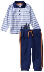 Baby-Jungen-Set mit Kontrast-Streifen, 2-teilig