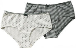 Damen-Panty mit hübscher Zierschleife, 2er Pack