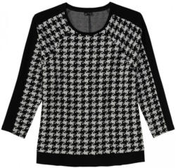 Damen-Sweatshirt mit Hahnentritt-Muster, große Größen