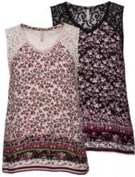 Damen-Bluse mit Spitzeneinsätzen