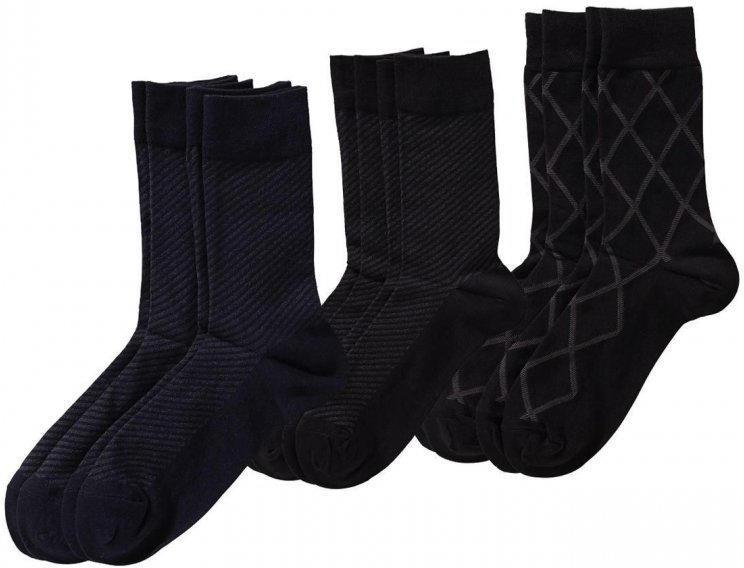 Herren-Business-Socken mit Komfort-Bund, 2er Pack