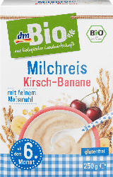 dmBio Milchreis Kirsch-Banane ab dem 6. Monat