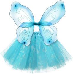 Karnevalskostüm Eiskristall Set mit Flügel