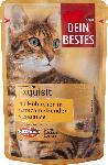 dm-drogerie markt Dein Bestes Nassfutter für Katzen, Exquisit, mit Hühnchen in zartschmelzender Käsesauce