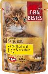 dm-drogerie markt Dein Bestes Nassfutter für Katzen, Exquisit, mit Geflügel & Ei in Sauce