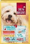 dm-drogerie markt Dein Bestes Snack für Hunde, Hundherum Glücklich, 2x mit Rind, 2x mit Schinken, 2x mit Hühnchen, Multipack, 6x20 g
