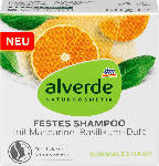 dm-drogerie markt alverde NATURKOSMETIK festes Shampoo mit Mandarine-Basilikum-Duft
