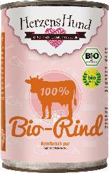 HerzensHund Nassfutter für Hunde, 100% Bio-Rind, Muskelfleisch, Herz, Lunge
