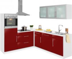 wiho Küchen Winkelküche »Aachen«, mit E-Geräten, Stellbreite 210 x 220 cm