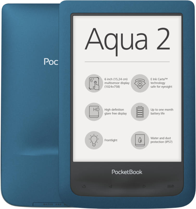 Pocketbook Aqua 2 Azure Blau 8 GB eBook-Reader WLAN 15,24 cm (6 Zoll) NEU OVP