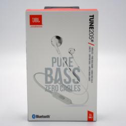 JBL Wireless Bluetooth In-Ear-Kopfhörer T205 BT Silber Pure Bass Sound BRANDNEU
