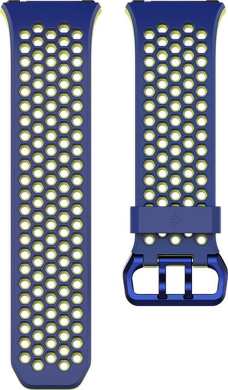 fitbit Ionic Accessory Sport Ersatz-/Wechselarmband Blau-Gelb Gr. L NEU OVP