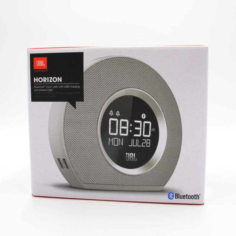 JBL Horizon Uhrenradio Weiß Stereo-Sound Bluetooth USB Digitalanzeige NEU OVP