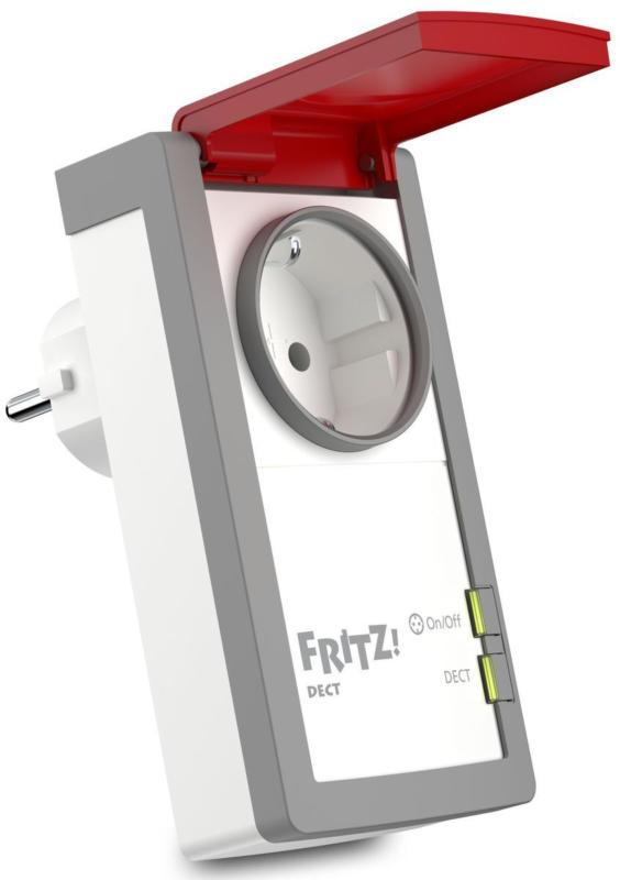 AVM FRITZ!DECT 210 intelligente Outdoor Steckdose Smart Home Weiß/Rot NEU OVP