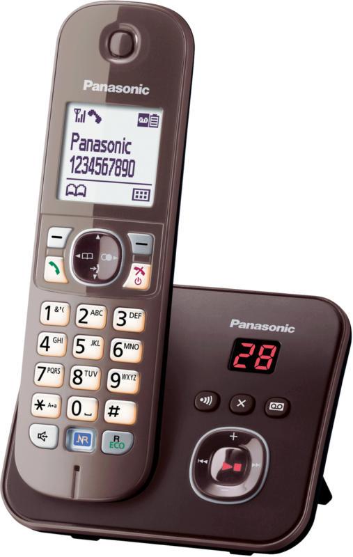 Panasonic KX-TG6821GA Mocca-Braun mit AB ECO-DECT Schnurlostelefon NEU OVP