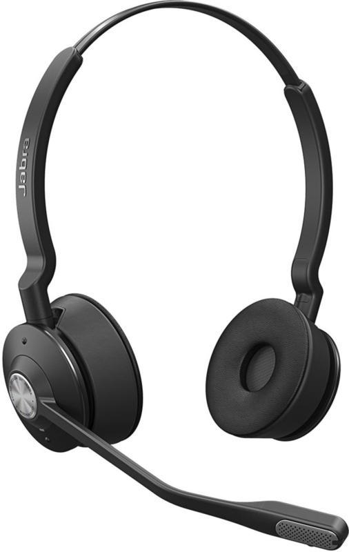JABRA Engage 65 Stereo Binaural DECT Headset Noisecancelling Schwarz BRANDNEU