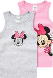 2 Minnie Maus Unterhemden mit Print