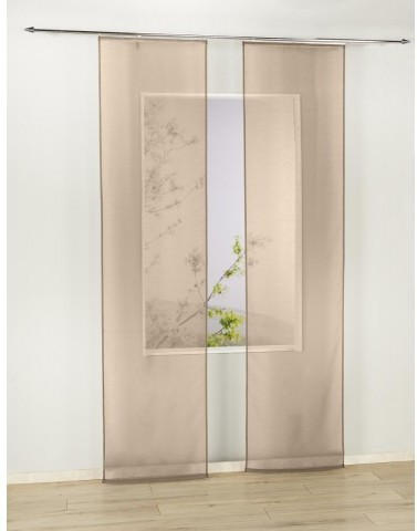 Schiebevorhang Pearl, taupe, ca. 60 x 245 cm