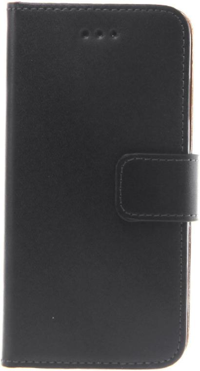 Slim Leder Book Tasche für Huawei G7, Schwarz