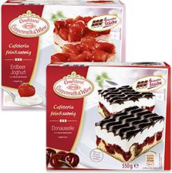 Coppenrath & Wiese Cafeteria fein & sahnig  Erdbeer Joghurt gefroren, jede 600-g-Packung und weitere Sorten