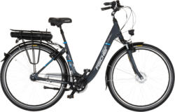 FAHRRAD - Pedelec - FISCHER - FAHRRAD 19904 CITY ECU 1401 Citybike (28 Zoll, 44 cm, Tiefeinstieg, 522 Wh, Grau)