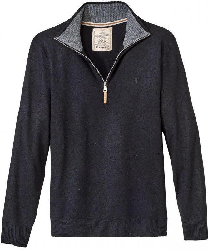 Herren-Pullover mit Kontrast-Innenseite