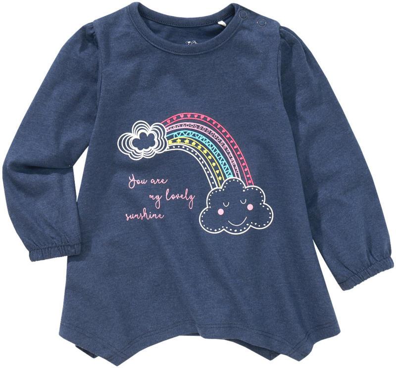 Baby Langarmshirt mit zipfelförmigem Saum