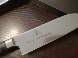 Küchenmesser mit Gravur