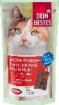 dm-drogerie markt Dein Bestes Snack für Katzen, gefüllte Knabberkissen mit Rind, Ente & Huhn