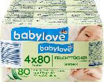 dm-drogerie markt babylove Feuchttücher, 4x80 Stück